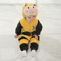 Hohe qualität Flanell Marienkäfer Modellierung Cartoon Baby Kleidung. bienen Klettern Kleidung Schöne Tier Sleepsuit Pyjamas Kostüm Cosplay