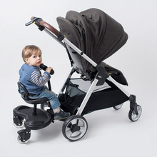 Universal Buggy Board Skateboard With Seat For Stroller Ride On Toddler Strollers Compatible With 95% of Pram Strollers A