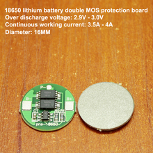 1pcs/lot 18650 Lithium Battery Double Mos Board Import Precision G3jk Single String Power 6a Current Diy