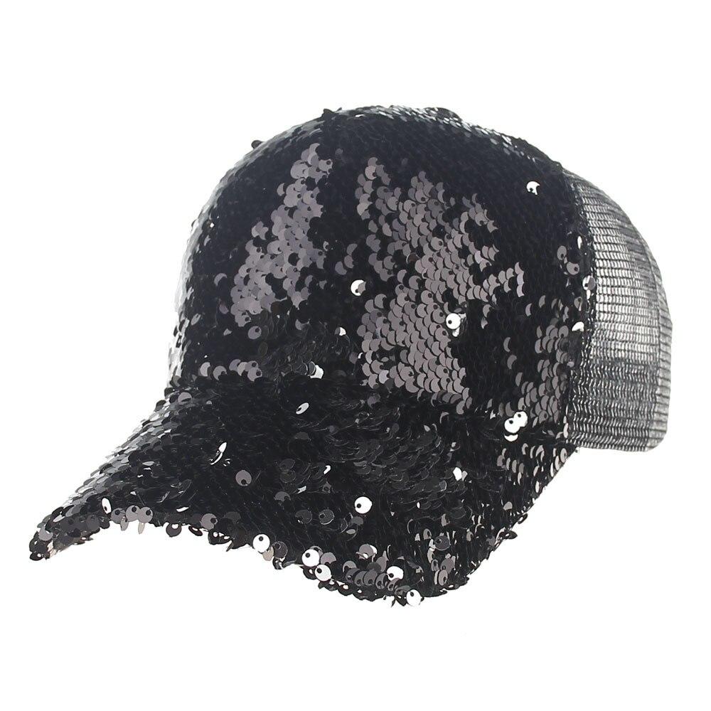 2018 New Fashion Pailletten Baseball-Cap Für Frauen Männer BlingBling Mesh Sommer Snapback Caps Gorras Casquette Homme YMC