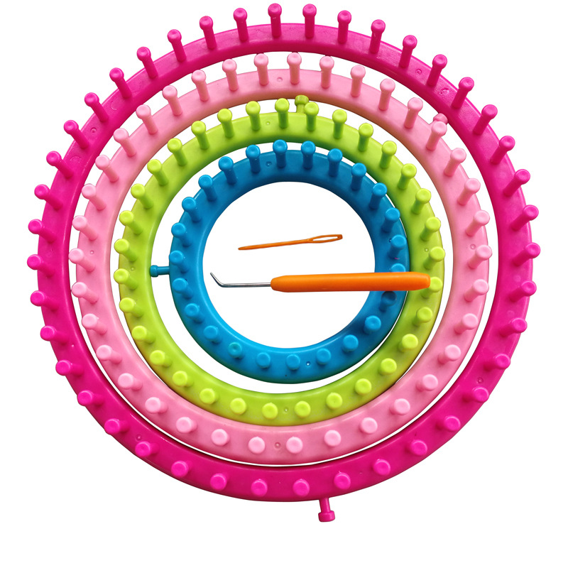 4 Size/1 Set  DIY Tool Kit Plastic Round Circle Creative Hat Scarf Sweater Circle Looms High Quality Hand Knitting Knit Loom