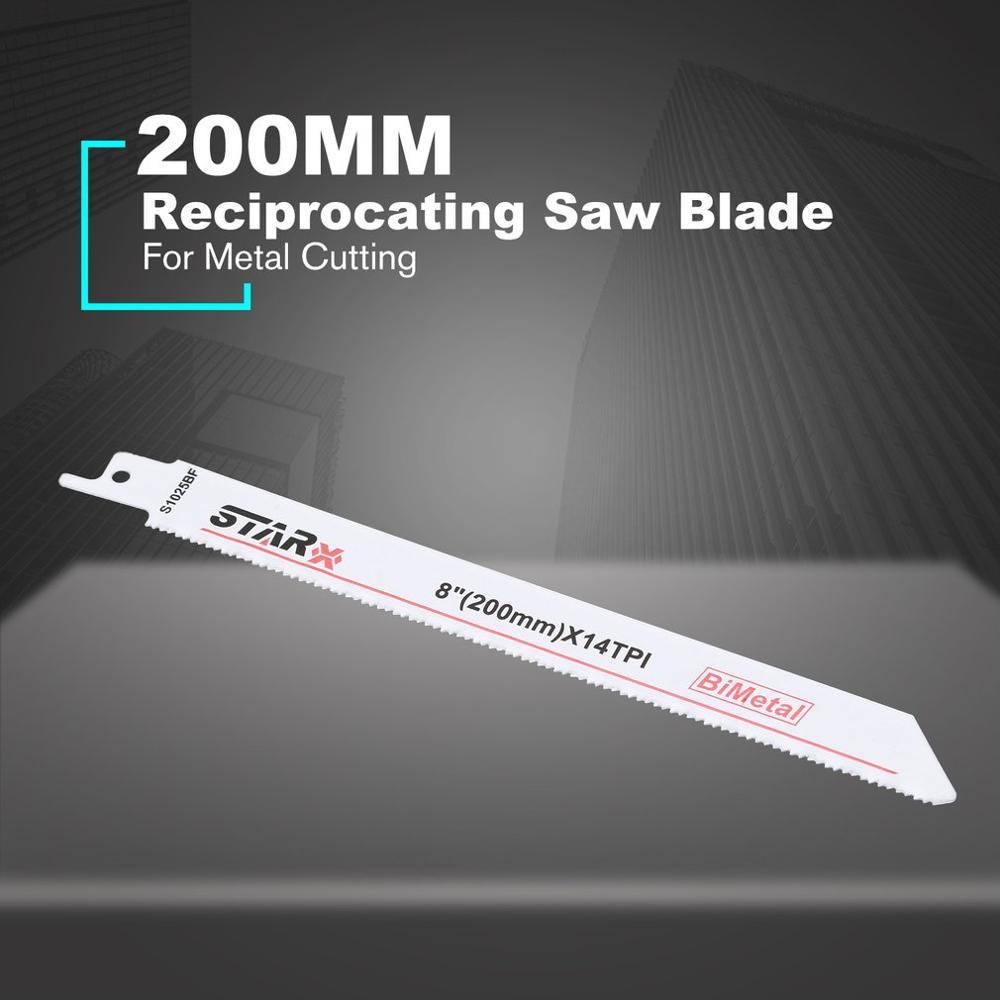 200MM Reciprocating Curve Saw Blade Jigsaw Blade Metal Hacksaw Jig Saw Blades For Metal Saw Cutting Tools