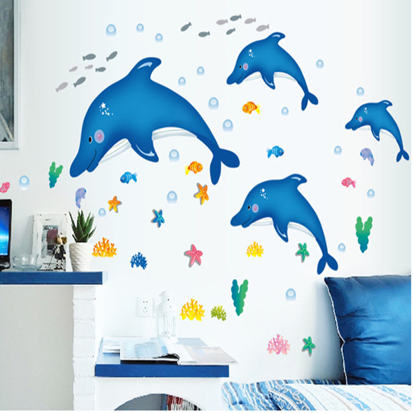 Factory Wholesale Large Room Bed Bathroom Decoration Cartoon Dolphin Bathroom Wall Stickers Glass Stickers China. Online Get Cheap Bathroom Factory  Aliexpress com   Alibaba Group