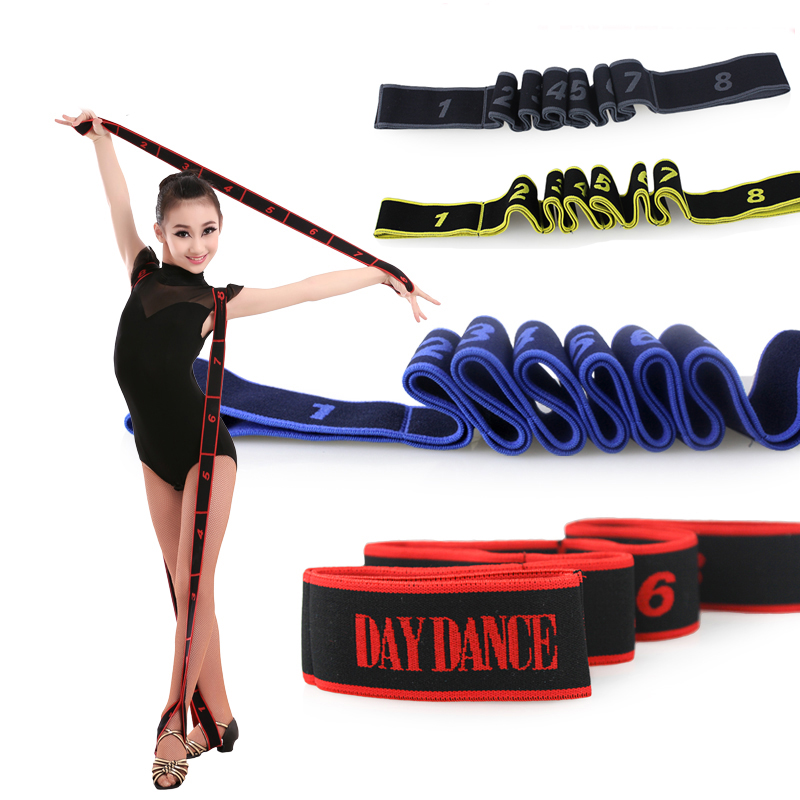 Flickor Vuxna Latin Resistance Bands Ballett Dra Upp Elastiska Band Bälte Fitness Arms Ben Exercise Belts