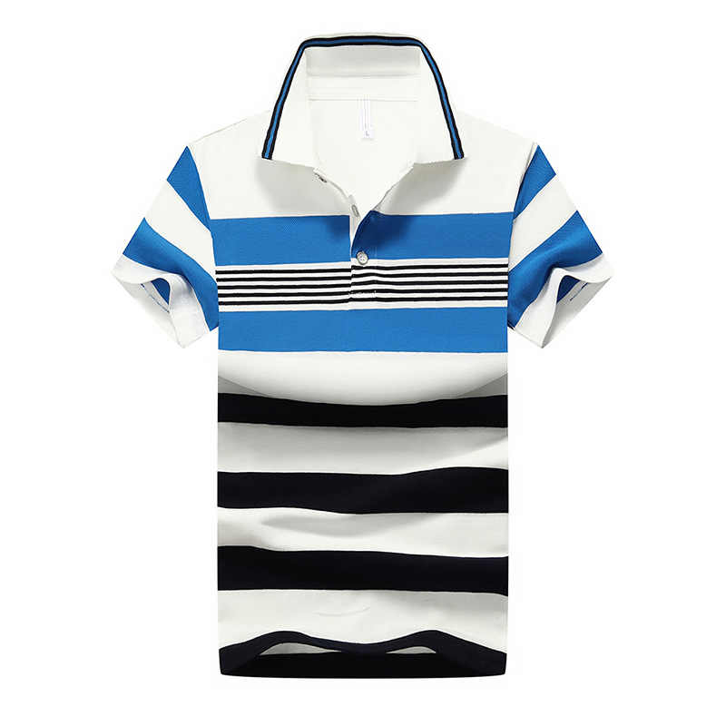 7c307df334dcd 92% Cotton Camisa Men Polo Shirt New Design 2018 Casual Striped Slim short  sleeves ASIAN