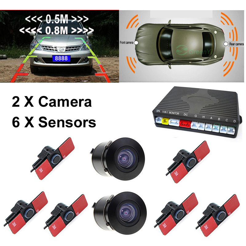 16mm flat sensors double cpu car video parking sensor. Black Bedroom Furniture Sets. Home Design Ideas
