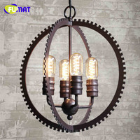 Fumat Retro Industrial Style Gear Pendant Light LOFT Vintage Lamp Restaurant Bar Iron Pendant Light Studio