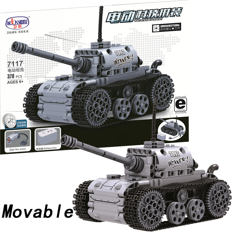 Movable Legoing Technic Classic Tank Vehicle With Motor Battery Box 378pcs Building Blocks Bricks Educational Toys For Boys Gift Model Building