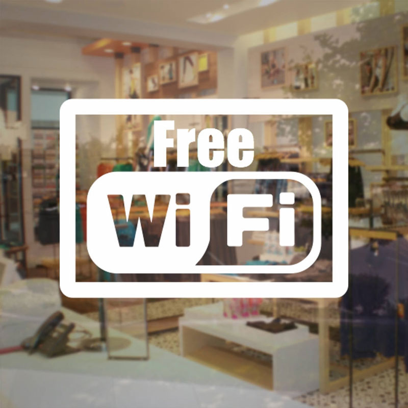 Us 3 26 5 Off Free Wifi Sticker Store Business Sign Internet Access Vinyl Decal Cheap Sale Business Sticker For Glass Door Window Nw08 In Wall