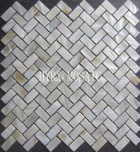 Neue Mosaik Fliesen; 15X30 MM Perlmutt Fliesen, Natürliche Shell Mosaiken  Bodenfliesen, Hintergrund