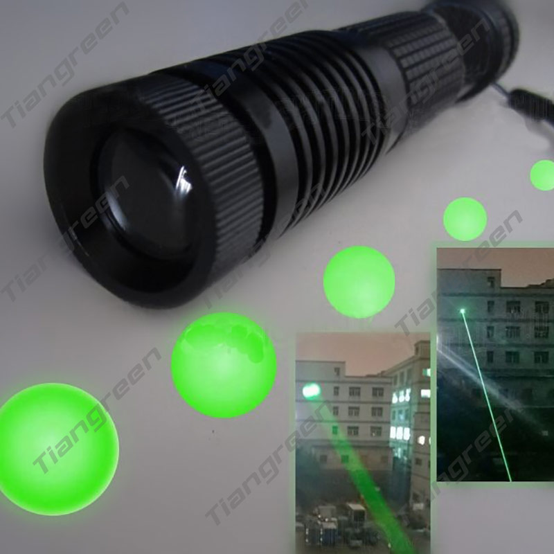 Promotion 532nm Green Laser Flashlight Focusable Green Laser Designator Night Vision Laser Lighting with 18650 Battery