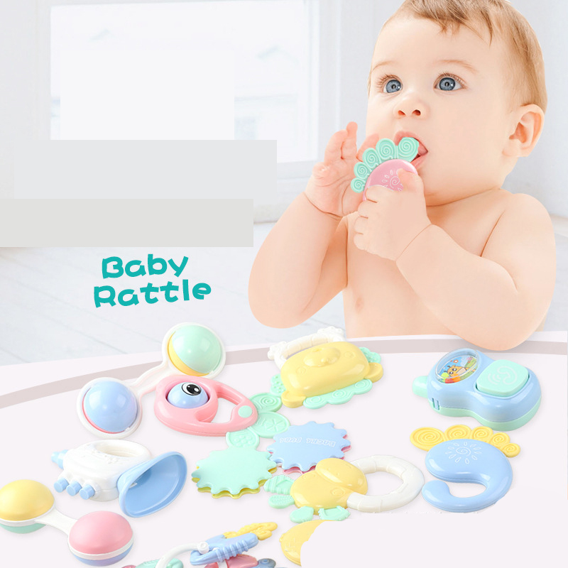 Baby Rattles Mobiles Toys Plastic Lovely Hand Shake Bell Ring Toy Newborn Baby Infant Teether Toys