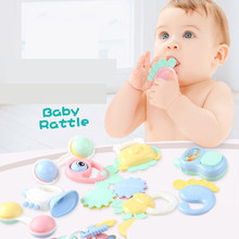 Baby Rattles Mobiles Toys Plastic Lovely Hand Shake Bell Ring Toy Newborn Baby Infant Teether Toys(China)