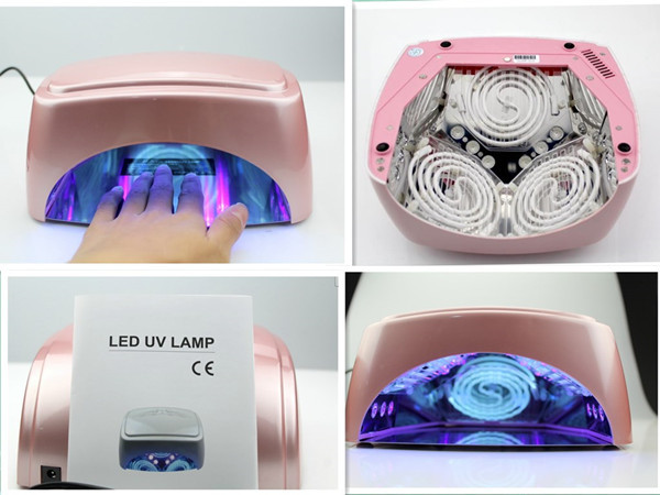 Free Shipping110v-240v 60W CCFL LED Curing Lamp Nail Dryer with Fan/Auto Sensor/ Timer, Voltage Adapter, Fit for All Country Use цена и фото