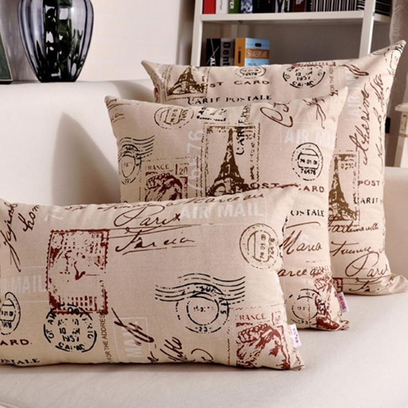 Hot Design Cushion Cover Home Decorative Linen/Cotton Decorative Pillows  Cojines Sofa Cushion Covers Pillow