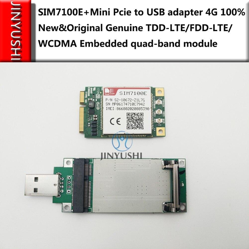 SIM7100E Mini Pcie SIMCOM +Pcie To USB Transfer Card 100% New&Original TDD-LTE/FDD-LTE/WCDMA  Embedded Quad-band In Stock