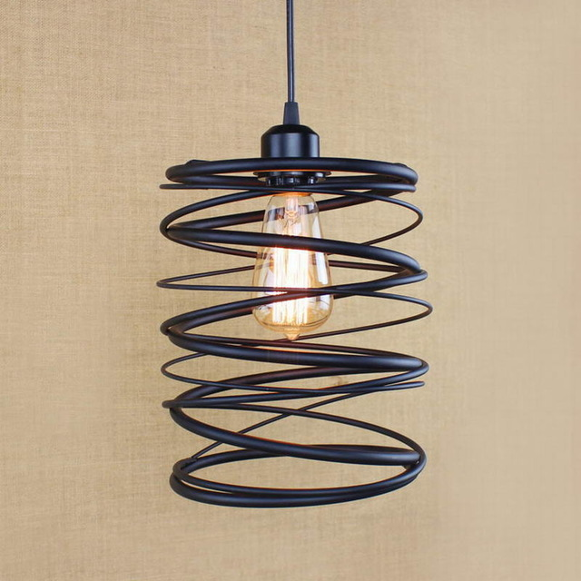 Vintage Industrial Retro Pendant Lamp Restaurant Bar Bookstore Edison Loft spring Style Light retro industrial lamp rope edison vintage pendant light cafe bar style retro loft industrial lamp repo edison pendant
