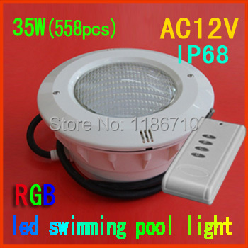35W*(558pcs) RGB embedded led swimming pool light underwater led pool light Factory direct sale free shipping