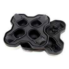 4 полости череп Форма 3D форма для льда чайник Бар вечерние Силиконовые Формочки кухонная формочка для шоколада инструмент HTQ99