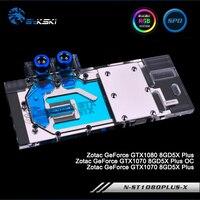 Bykski N GV1060MI X Full Cover Graphics Card Water Cooling Block For ZOTAC GTX1080 8GD5 PLUS