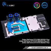 Bykski N GV1060MI X Full Cover Graphics Card Water Cooling Block For ZOTAC GTX1080 8GD5 PLUS