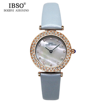 IBSO Crystal Diamond Top Brand Luxury Watch Women Clock Woman Vogue Party Ladies Watches Casual Fashion Waterproof Montre Femme
