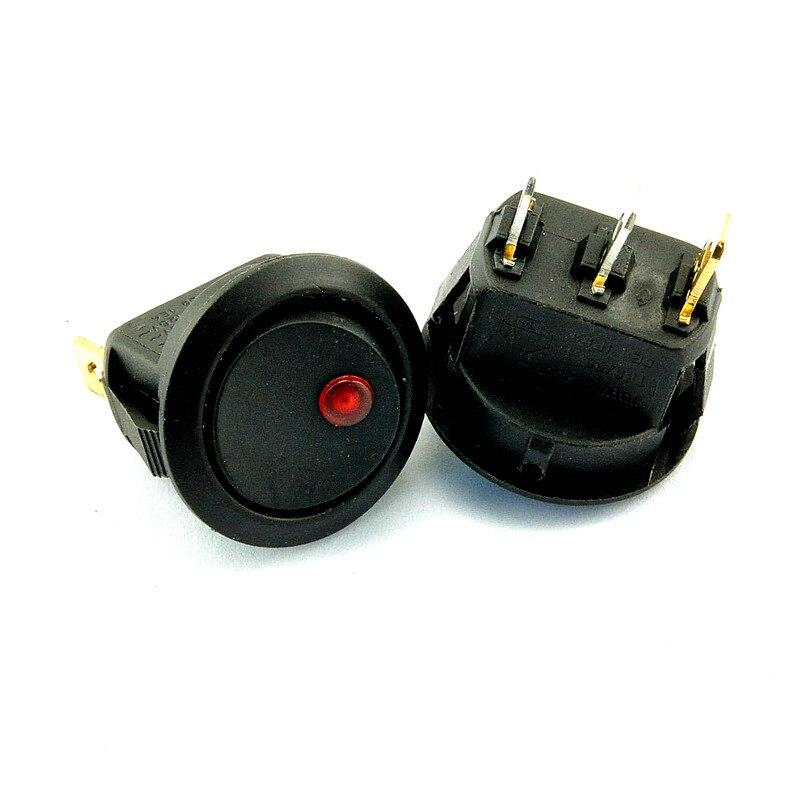 Interrupteur d'alimentation KCD2-202, interrupteur de bateau, 3 pieds 2 étals, feux de LED