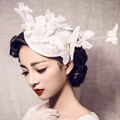 Vintage Butterfly Lace Bridal Hats 2015 with Rhinetone Wedding Hats Veils for Brides Wedding Accessories tocados de novia H2