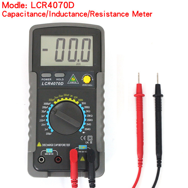 LCR4070D digital bridge,High Precision Electronic Capacitance Inductance Meter Digital Bridge LC Meter Multimeter LC RC high precision digital capacitance inductance meter auto ranging component tester 500kh lc rc oscillation inductance multimeter