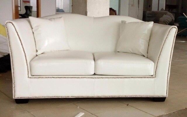 US $653.6 5% OFF|Hohe qualität kuh verschiffen graded echte echtem leder  sofa/wohnzimmer sofa möbel neuesten stil zu hause verwendet drei sitz weiß  ...