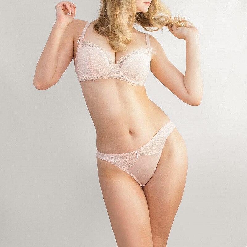 2019 Fashion charming lace   bra   women   bra     set   adjusted Underwear women lingerie lace   bra   &   briefs     set   plus size 70-85ABCDE