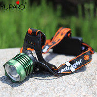 YUPARD Q5 LED white blue LED HeadLight zoom zoomable Headlamps fishing power Head Light + 18650 rechargeable battery+AC charger