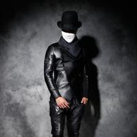 Hot Winter Neue Männer persönlichkeit Schlanke dreidimensionaler schnitt lederjacke männer Koreanische Art Und Weise kurzen nähten motorradjacke
