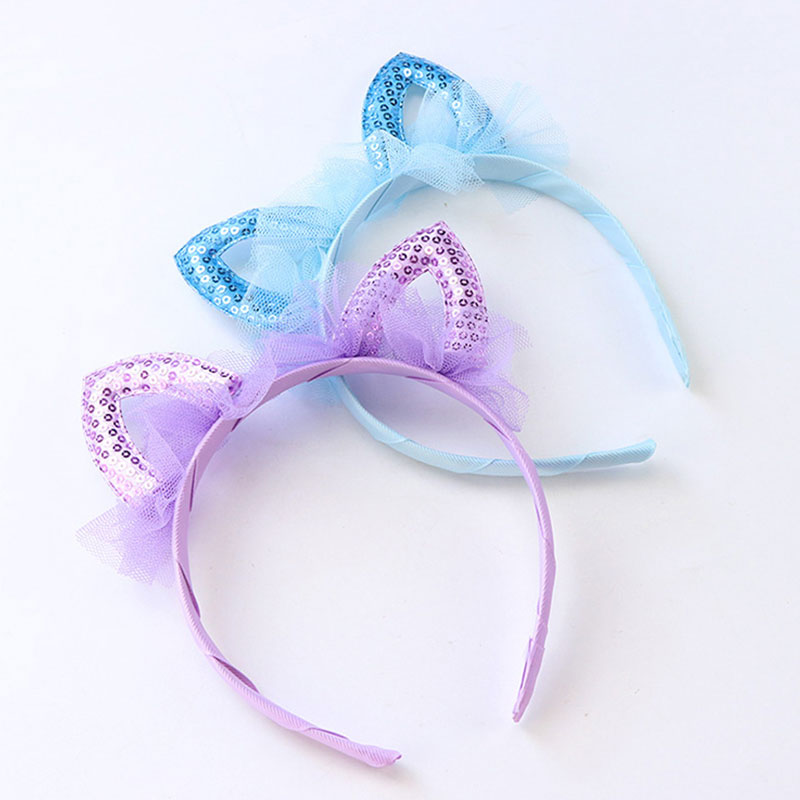 New Cute Cat Ears Lace HairBand For Girl Headwear Children Birthday Party Gift Sexy Hair Band Ornament Headband Hair Accessories baby girl headband cute bow tie princess hair accessories hairband children birthday christmas gift kid infant hair ribbon