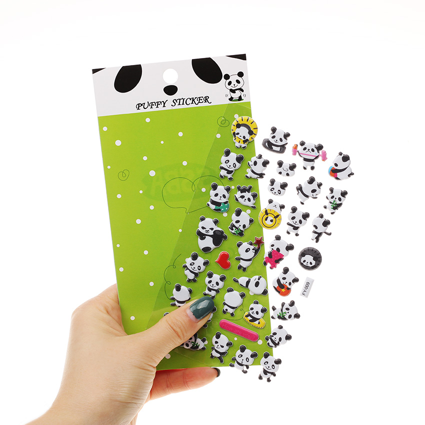 Vervoering 1 St Diy Dagboek Album Scrapbooking Kawaii Briefpapier Memo Pad Leuke Panda 3d Bubble Sticker Decoratie En Digestion Helping