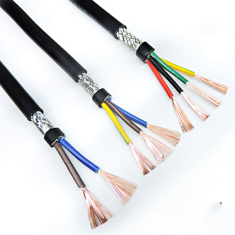 24AWG 6/<font><b>7</b></font>/8 <font><b>core</b></font> Shielded cable 1meters pure copper RVVP shielded <font><b>wire</b></font> control cable UL2547 signal wir image