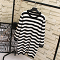 Casual Autumn Style Women Sweaters Plus Size Loose Long Striped Sweater Pullovers KK1800