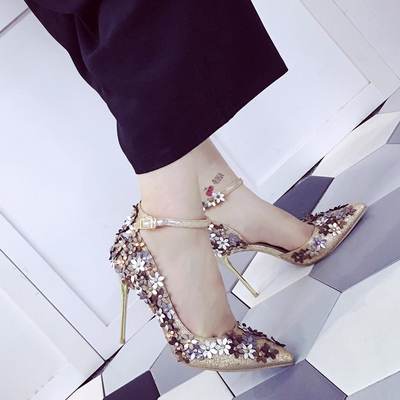 2016 new spring summer woman  high heels shoes wedding shoes bridal  lace platform party shoes for women