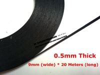 9mm Wide 0 5mm Thick 20M Roll Two Sides Adhesive DustProof Sponge Black Foam Tape For