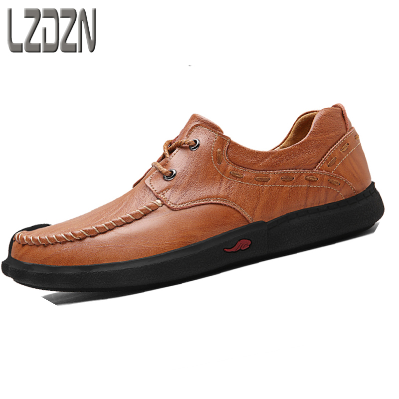 2017 new men's casual leather shoes Shoes Mens summer autumn tide middle-aged Korean personality of the European version of autu