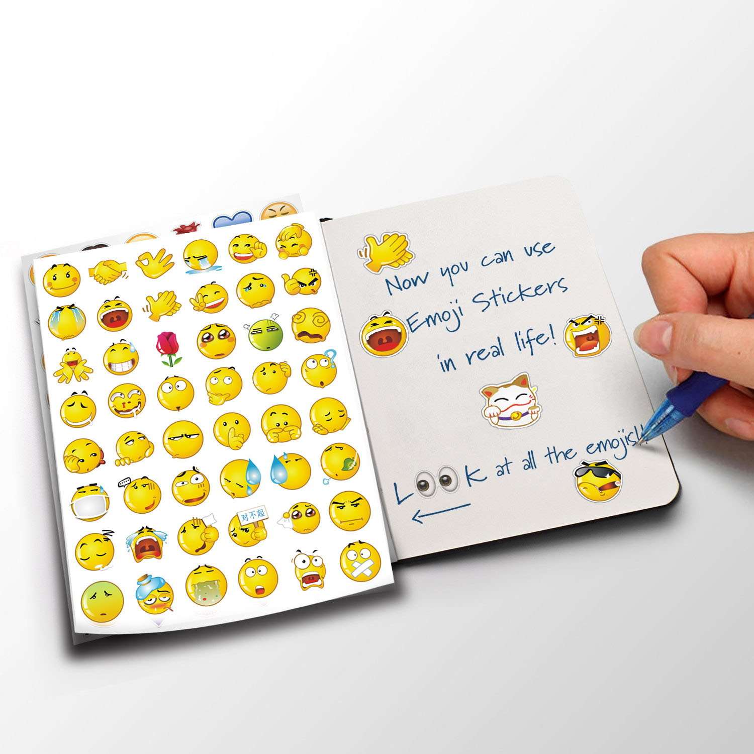 1pc sticker 48 classic emoji wechat aliexpress smile face stickers for notebook albums message twitter vinyl toys send at random in stickers from toys