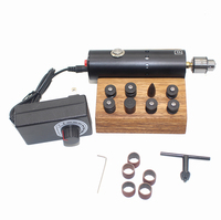 DIY Leather Polishing Burnishing Machine Vegetable Tanned Leather Electric Edge Grinder Y