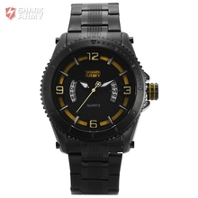 SHARK ARMY Man Sport Alloy Quartz   Water Resistant 3ATM Stainless Steel Date display  Official box  For Gift Watch / SAW200