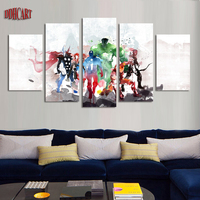 5 Piece The Avengers Abstract Movie Picture Painting On Canvas For Wall Art Home Decoration Living