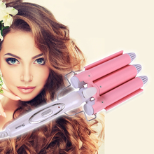 Free delivery cosmetic Curling Iron Hair Waver Barrels LCD Automatic Hair Curler Curling Tongs Hair Curlers Electric Hair Styler