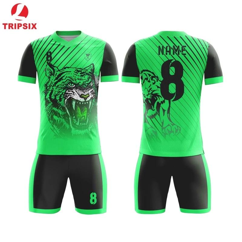 Green team jersey full sublimation 100% polyester quick dry OEM any color Soccer Jerseys Design Custom Football Uniform