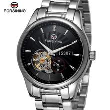 FSG9406M4S2 Forsining new arrival Automatic stainless steel luxury men's watch with stainless steel band free shipping  gift box