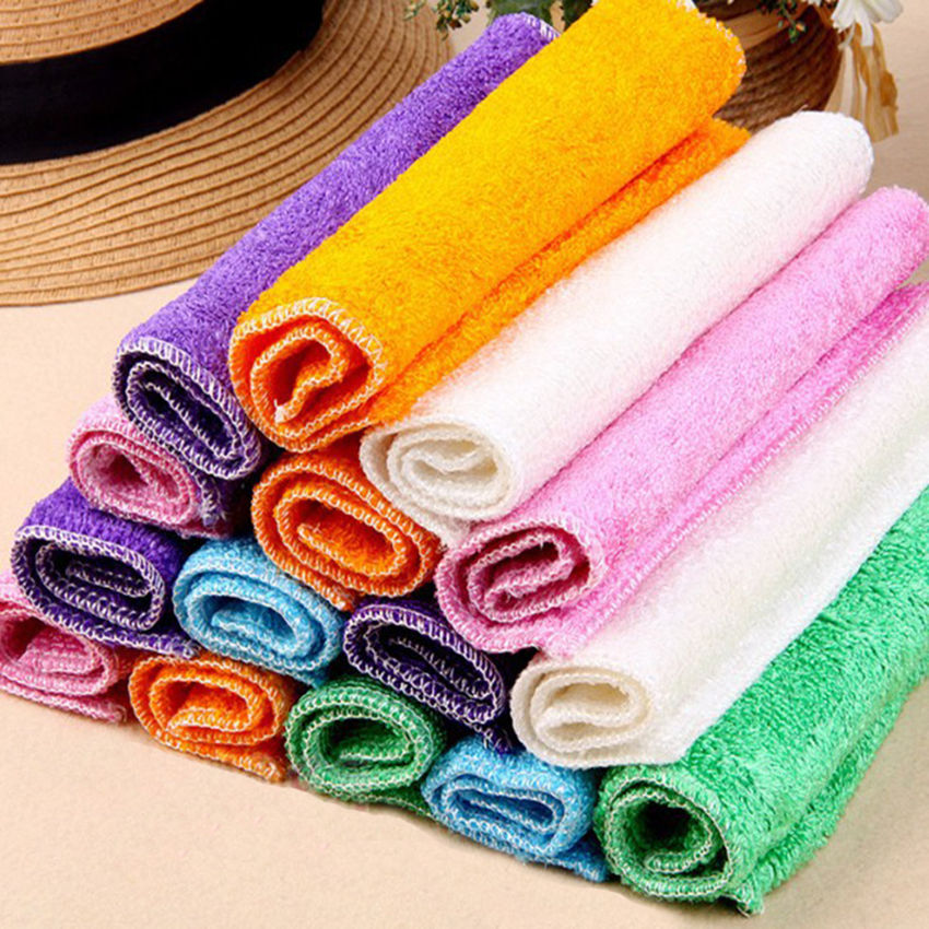 Kitchen Anti-grease wipping rags efficient Bamboo Fiber Cleaning Cloth home washing dish ...