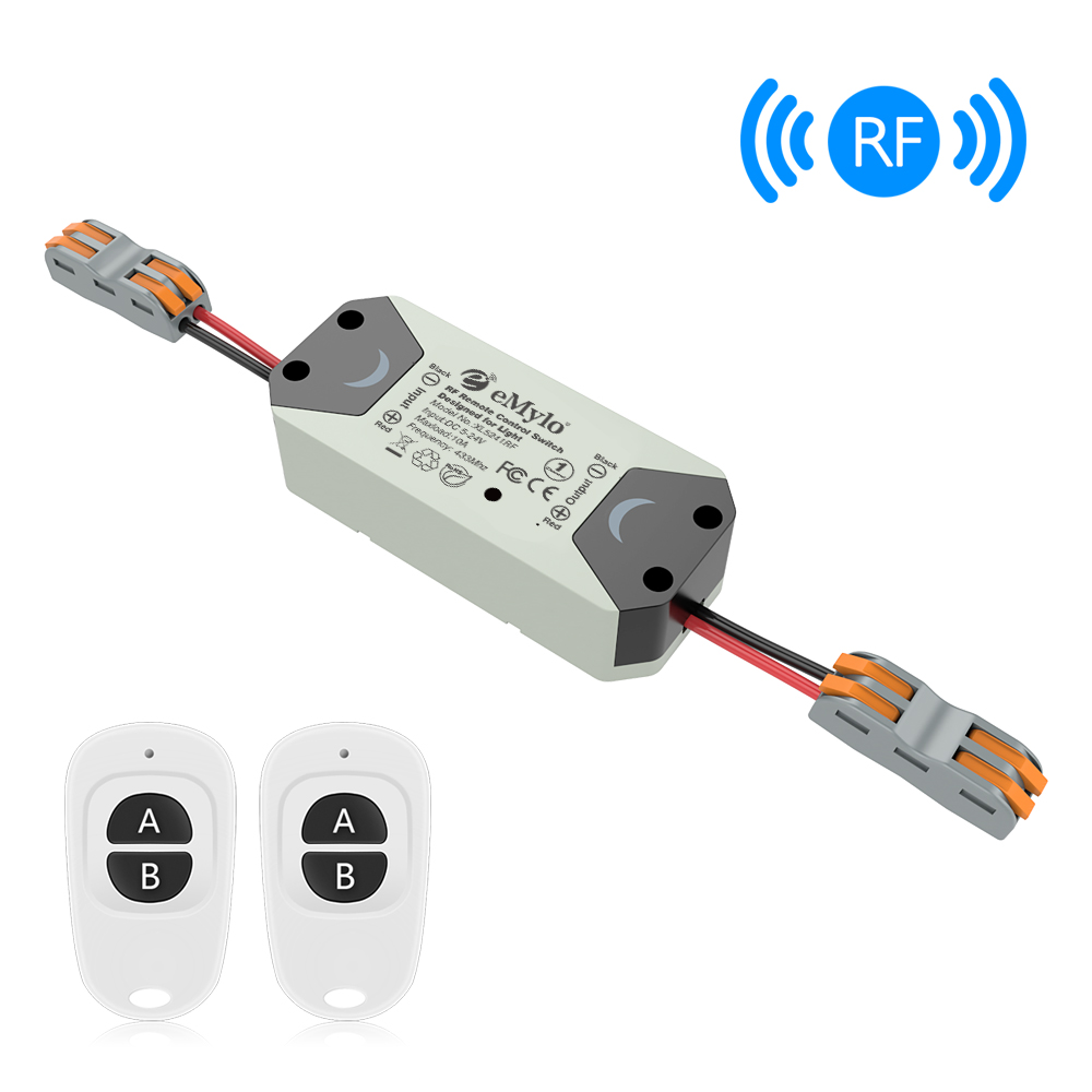 Wireless RF Motor Controller Switch DC 5V 24V 433Mhz Relay Module Motor Remote Control Switch for Rolling Door Electric Curtains in Switches from Lights Lighting