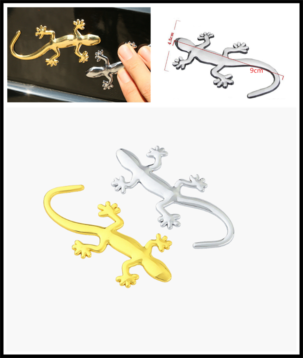 3D Auto Motorcycle Styling Applique Car Sticker Animal Gecko for Mercedes Benz E53 C63 C43 C-Class AMG GL550 F800 A200 image